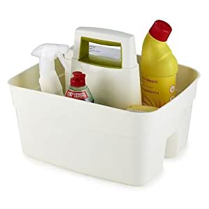 Deep Multipurpose Sturdy Plastic Caddy for Cleaning Essentials