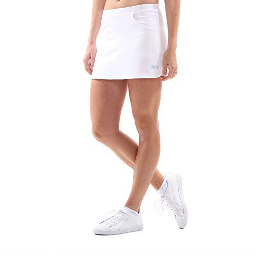 Sportkind Mädchen & Damen Tennis/Hockey/Golf Classic Rock mit Taschen & Innenhose, weiss, Gr. 140