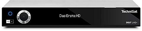 TechniSat DIGIT UHD+ - UHD / 4K SAT-Receiver (HD+, CI+, Smart-TV, PVR-Funktion, Twin-Tuner, DVB-T2 HD (H.265), DVB-C, DVB-S, DVB-S2) silber