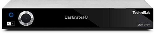 TechniSat DIGIT UHD+ 4K Sat Receiver (auch für Kabelfernsehen & DVB-T2 geeignet) mit Aufnahmefunktion, Twin-Tuner, App-Steuerung & Streaming-Funktion, silber