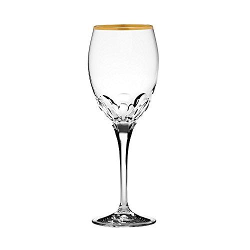 ARNSTADT KRISTALL Rotweinglas Harmony (24 cm) Kristallglas mundgeblasen · von Hand geschliffen · Handmade in Germany · inkl. 21 Karat Goldrand