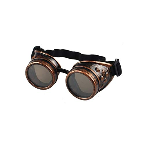 9977ddbb69c94 HGJVBFGH1 Gothic Steampunk Retro Glasses Clothing Welding, Eye Protection  For Riding Red Copper