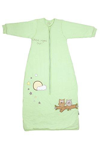 Schlummersack Baby Winter Schlafsack Langarm 3.5 Tog - Eule mintgrün Jersey - 12-36 Monate/110 cm