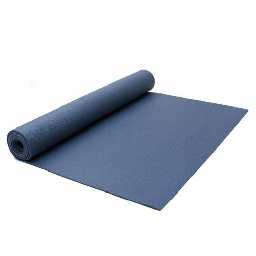 Lotus Design Yogamatte PVC ÖKOTEX Standard, extra lang, Rutschfest, für Anfänger und Fortgeschrittene, Yogamatten für Yoga, Pilates, Sport und Gymnastik, 200x60 cm, 3 mm, Blau, Made in Germany