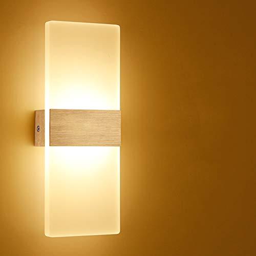 SUNA LED Applique Murale Acrylique Led 6W Chambre Simple Lampe De Mur Allée De Chevet