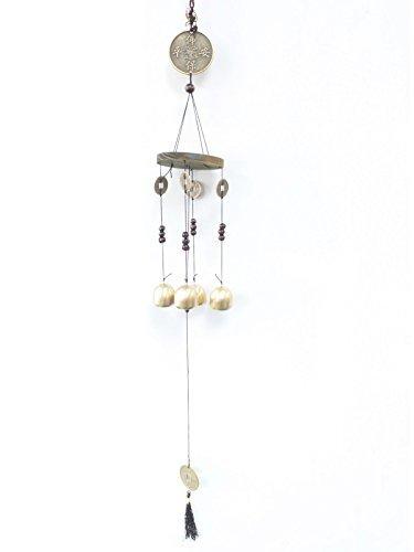 Glück Münze Vier Glocken - Feng-Shui Windspiele Haushalt Geschenke Chinesisch AW