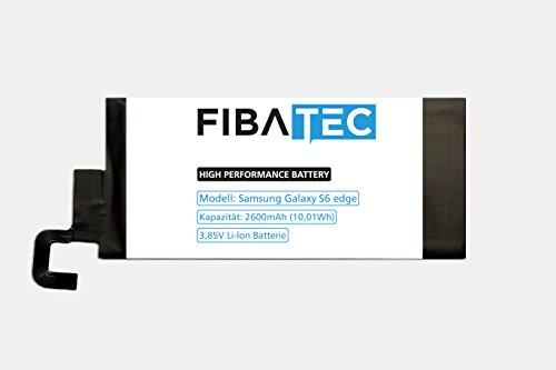 FIBAtec I Ersatzakku Samsung Galaxy S6 EDGE Akku | POWER AKKU | SM-G925F / EB-BG925ABE | Android Smartphone, Lithium Ionen Akku, Zusatzbatterie, Ersatz- Akku, Energiequelle Mobiltelefon I Handy Ersatzteile, Batterie, Hochleistungsakku, Zuberhör Galaxy