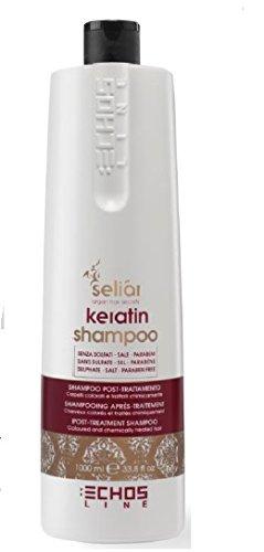 Seliar - shampoing à la kératine aprés traitement - idéal aprés lissage - sans sulfate - sans sel - sans parabene 1000ML