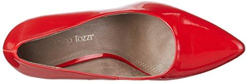 Marco Tozzi 22423, Escarpins Femme Rouge (CHILI PATENT 520)