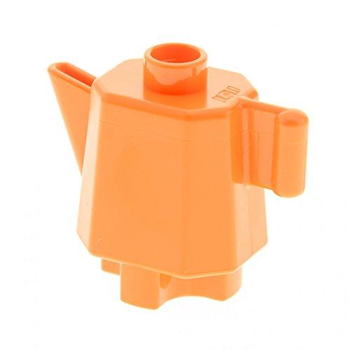 1 x Lego Duplo Geschirr Kanne orange hoch Kaffee Tee Milch Puppenhaus Wohnzimmer Küche Zubehör Möbel 31041