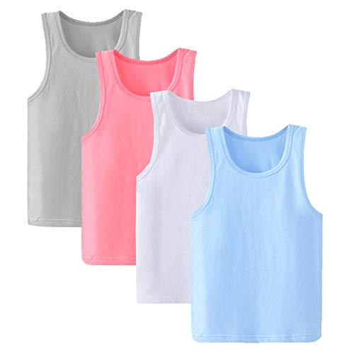 Anntry 2-8 Años Niñas Colores Sólidos Camisas Suave