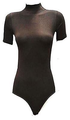 Ladies Cotton Turtleneck Half sleeve Bodysuits Leotards(2346)