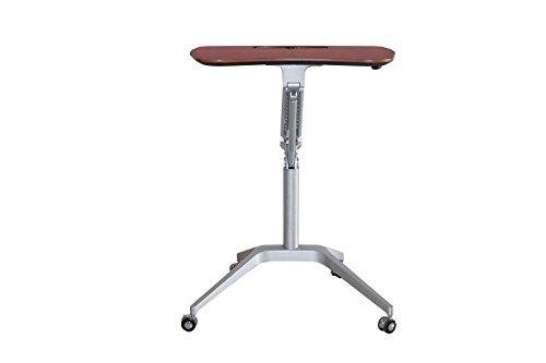 esign Höhe verstellbar Mobile Laptop Schreibtisch Warenkorb | Premium Sit-Stand Rolling Laptop Arbeitsplatz über dem Bett | Luxus-Multifunktions-Tischständer für Freizeit-Leben (Cherry) (Verstellbare Stehpult Top)