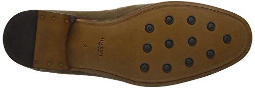 HACKETT LONDON Herren Glove Loafer Suede Slipper Braun (Brown Taupe)