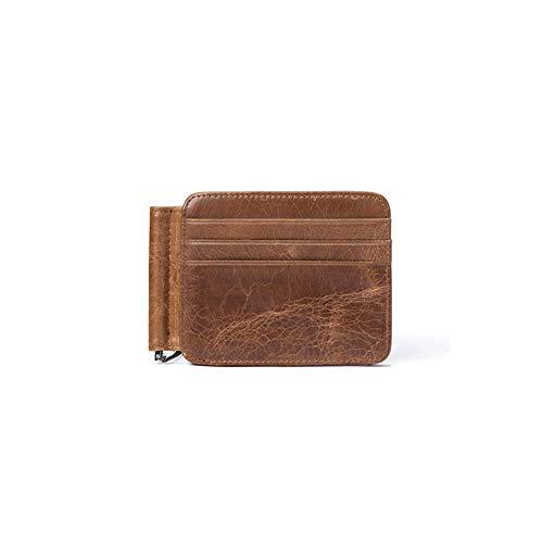 Braune Leder Scheckheft Wallet (Herren Passport Trifold Wallet Herrenbrieftasche Card Package Card Set Multifunktions Herren Leder Geldbörse Retro für Business und Freizeit,Coffee)