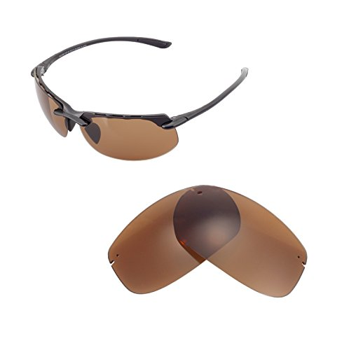 Walleva Ersatzgläser für Maui Jim Banyans Sonnenbrille - Mehrfache Optionen (Braun - polarisiert)