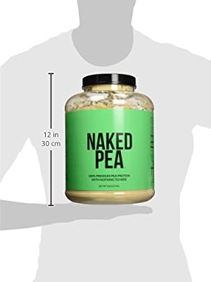5LB 100% Pea Protein Isolate from North American Farms - Bulk, Plant Based, Vegetarian & Vegan Protein. Easy to Digest - Speeds Muscle Recovery - Non-GMO - Lactose, Soy and Gluten Free-76 Servings (Unflavoured) by NAKED nutrition