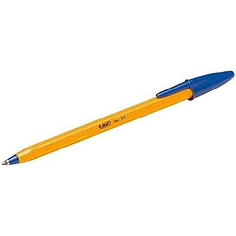 BIC trasparente fine punto penne confezioni da 100 blue - 1 Lb Tin
