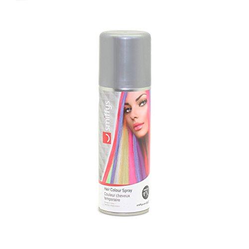 Auswaschbares Haarspray 125ml blau grün lila orange pink rot schwarz silber weiß Hair Clour Spray (Silber)