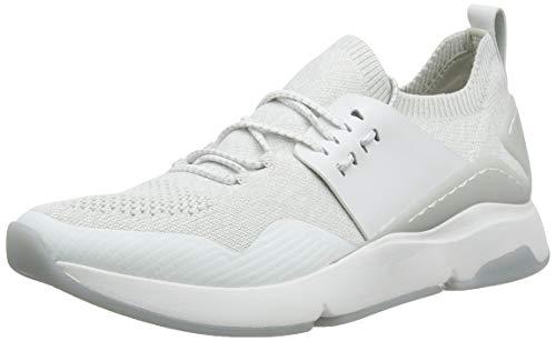 Cole Haan Damen Zerogrand All-Day Trainer Sneaker, Weiß Glacier Grey Knit Leather Optic White/Glacr, 38 EU (Cole Haan Frauen Schuhe)
