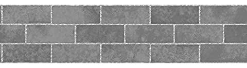BHF FDB50028 Ceramica Stone Tile Kitchen and Bathroom Self Adhesive Border - Slate