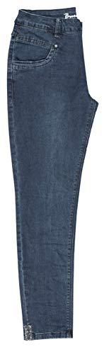Buena Vista Damen Jeans Anna C 7/8 Stretch Denim mit Strass Dunkelblau XS