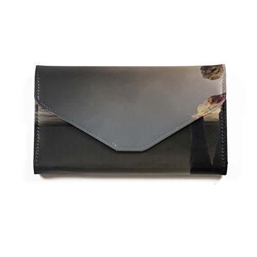 Eine brennende Fackel Reisepass-Brieftasche Dreifach gefalteter Dokumentenorganisator Leder-Passhülle Passhüllen -