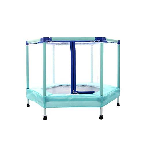 LQQGXL LQQGXLHaupttrampolin für den Außenbereich Trampolin 55-Zoll-Kinder-Indoor-Outdoor-Trampolin-Set mit Rock und Sicherheitsnetz Sportausrüstung für Kinder