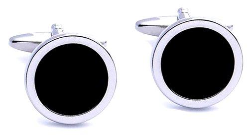 code-red-mens-base-metal-rhodium-plated-with-black-enamel-round-cufflink