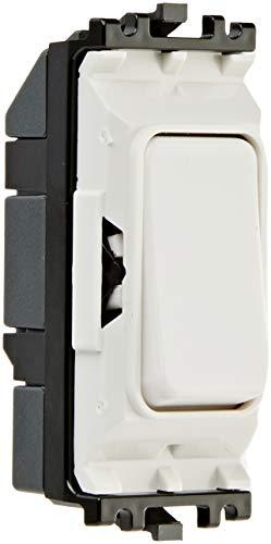 MK Electric Edge 10-Amp SP 1-Wege-Schalter, mit Kunststoff-Wippe, Weiß - Honeywell Schalter