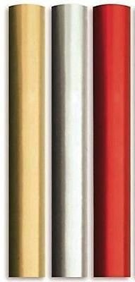 8m Plain Metallic Foil effect Gift Wrapping Paper 3x2m roll