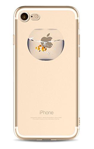 Phone Kandy® Klar Transparent Niedliche bunte TPU-ultra dünne Silikon-Kasten & Schirm-Schutz Hülle Abdeckung Haut tascen - Prime (iPhone 6 6s, Fischglas)