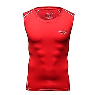 T-shirts respirant à séchage rapide et à séchage rapide pour hommes, Tee Tops Running Training M-XXL, Kit de football, Vêtements de sport-red-XL