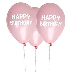 Neviti- Little Star Pink-Happy Birthday Balloons-8 Pack Globos, Color rosa, 10 x 3 x 0.2 (775417)