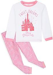 Disney Princess Pigiama A Maniche Lunghe Bambina in Caldo Cotone 2-14 Anni, Regali Originali