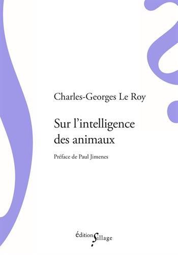 Sur l'intelligence des animaux