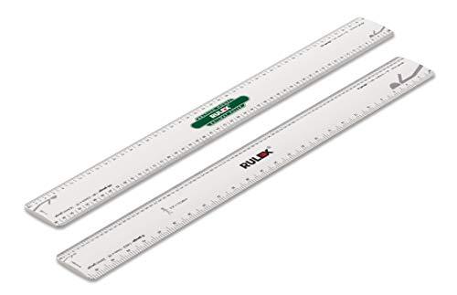 Rulex Britische Modell Eisenbahn 30 cm flach oval Maßstab Lineal OO Gauge 1:76 HO 1:87 N 1:148 O Gauge 1:43,5 1ft 4 Gauge