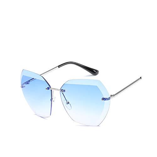 Sportbrillen, Angeln Golfbrille,New Women Rimless Sunglasses Classic Brand Designer Gradient Sun Glasses For Women Vintage Round Gafas Oculos 6