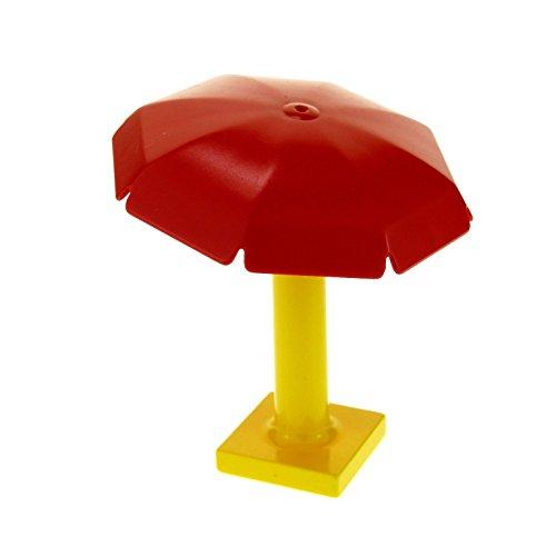 1 x Lego Duplo Möbel Garten Schirm Regenschirm rot gelb Sonnenschirm Ständer Puppenhaus 4913 2322
