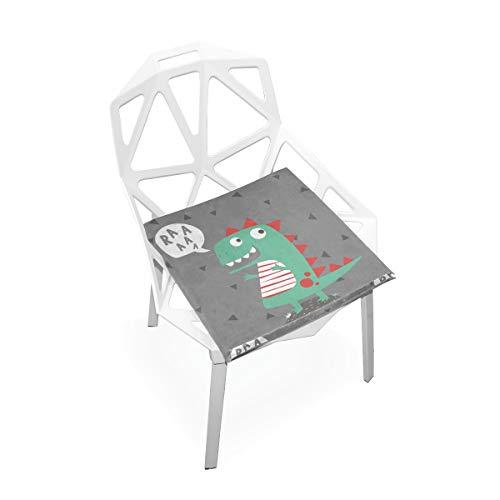 Dinosaure mignon antique drôle dans peinture faite sur commande molle antidérapante molle carrée de chaise de mousse de mémoire de coussins de siège cuisine à Salle à manger Meubles 16 X 16 pouces