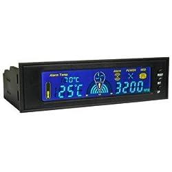 El Chic Mailanda 12,7 cm LCD Panel PC en la parte delantera de temperatura ajustable 3 ch controlador para velocidad de ventilador