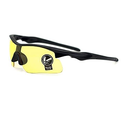 Xinmade Lunettes de nuit jaune polarisés, anti reflets lunettes HD de conduite, lunettes de protection pour cycliste, lunettes de conduite