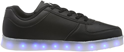 Wize & Ope Led, Baskets Unisexe-adulte Noir (schwarz (black 02))