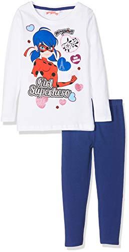 Miraculous 2382 Pijama, Blanc, 8 años para Niñas