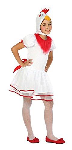 ATOSA 24169 - Henne, Mädchenkostüm, Größe 128 (Chips Kostüm)