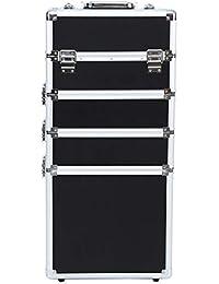 Ridgeyard 5 en 1 Universal Grande de Aluminio Belleza Maquillaje cosmético Enrollable Maletero Vanity Profesional portátil Bolsa de Viaje Organizador