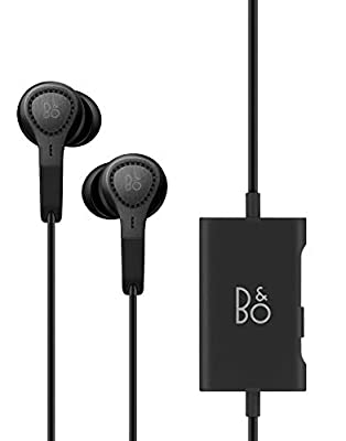 B&O PLAY by Bang & Olufsen Beoplay E4 (Black) with Leather Earphone Carry Bag