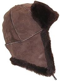 Cordero Cap pilotos Rusos Gorro de español Merino Piel de cordero, de piel de color marrón con marrón dimensiones ver descripción del producto