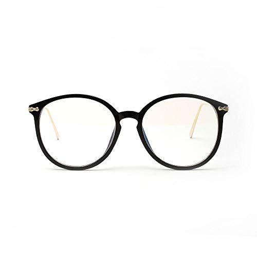 UICICI Big Frame Pink Brille Myopie Brillengestell mit klarer Linse für Frauen (Farbe : Rosa)