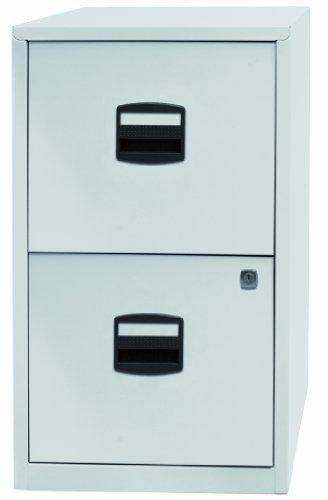 Bisley Metall Aktenschrank mit 2Schubladen A4, metall, Chalk White, 672mm High by 413mm wide by...